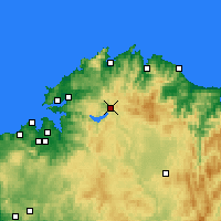 Nearby Forecast Locations - As Pontes de García Rodríguez - Harita