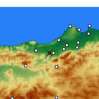 Nearby Forecast Locations - El Affroun - Harita