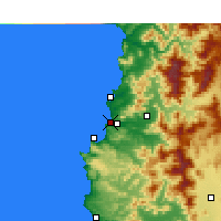 Nearby Forecast Locations - Concón - Harita