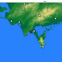 Nearby Forecast Locations - Sandy Point - Harita