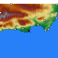 Nearby Forecast Locations - Roquetas de Mar - Harita