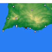 Nearby Forecast Locations - Albufeira - Harita