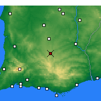Nearby Forecast Locations - Almodôvar - Harita