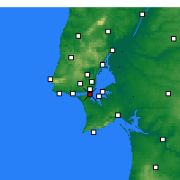Nearby Forecast Locations - Almada - Harita