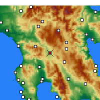 Nearby Forecast Locations - Megalopolis - Harita
