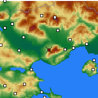 Nearby Forecast Locations - Rodolivos - Harita