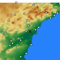Nearby Forecast Locations - Elche - Harita