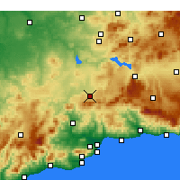 Nearby Forecast Locations - Antequera - Harita