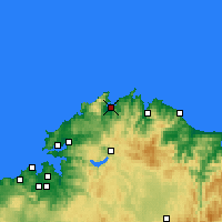 Nearby Forecast Locations - Ortigueira - Harita