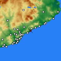 Nearby Forecast Locations - Mataró - Harita