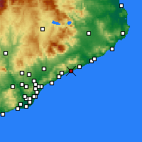 Nearby Forecast Locations - Canet de Mar - Harita