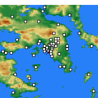 Nearby Forecast Locations - Palaio Faliro - Harita
