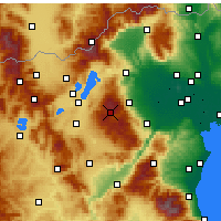 Nearby Forecast Locations - Vermio - Seli - Harita