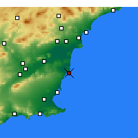 Nearby Forecast Locations - Torrevieja - Harita