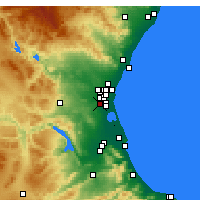 Nearby Forecast Locations - Torrent - Harita