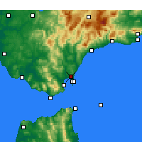 Nearby Forecast Locations - San Roque - Harita