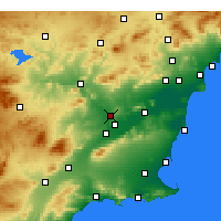 Nearby Forecast Locations - Molina de Segura - Harita