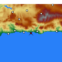 Nearby Forecast Locations - Almuñécar - Harita