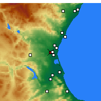 Nearby Forecast Locations - Aldaia - Harita