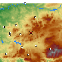 Nearby Forecast Locations - Alcalá la Real - Harita