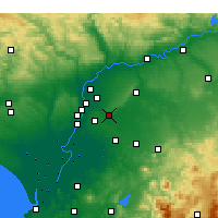 Nearby Forecast Locations - Alcalá de Guadaíra - Harita