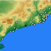 Nearby Forecast Locations - El Vendrell - Harita