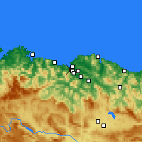 Nearby Forecast Locations - Santurtzi - Harita