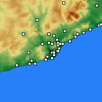 Nearby Forecast Locations - Sant Feliu de Llobregat - Harita