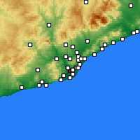 Nearby Forecast Locations - Cornellà de Llobregat - Harita