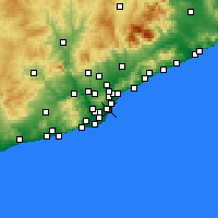 Nearby Forecast Locations - Ciutat Vella - Harita