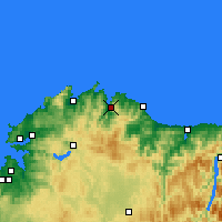 Nearby Forecast Locations - Viveiro - Harita
