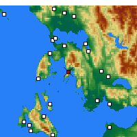 Nearby Forecast Locations - Mytikas - Harita