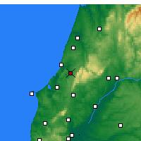 Nearby Forecast Locations - Alcobaça - Harita