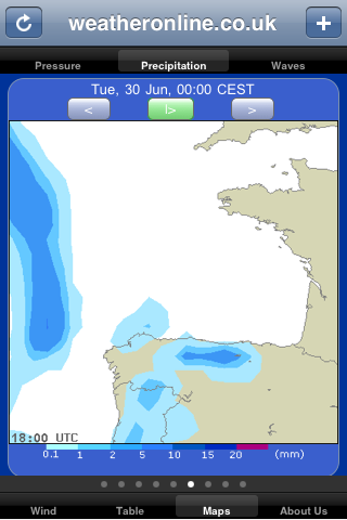 precipitation forecast sailing app